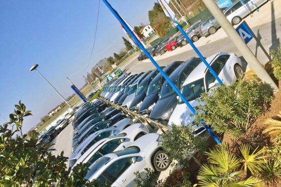 guest cars of the parking MarcoPolo to Venice airport